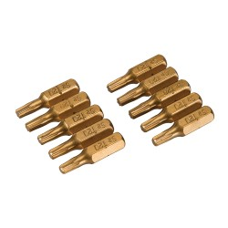 Puntas T20 doradas, 10 pzas