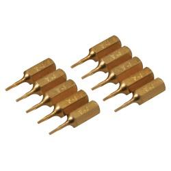 Puntas T4 doradas, 10 pzas