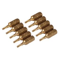 Puntas T9 doradas, 10 pzas