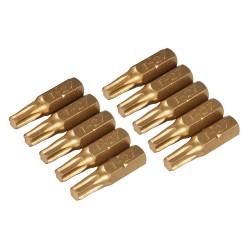 Puntas T27 doradas, 10 pzas