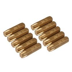 Puntas T40 doradas, 10 pzas