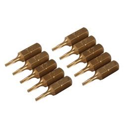 Puntas T7 doradas, 10 pzas