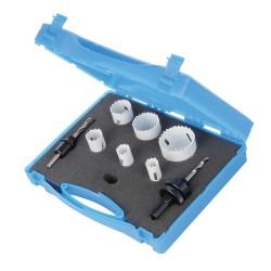 Juego coronas bimetal Ø18 - 51 mm para electricistas, 9 pzas