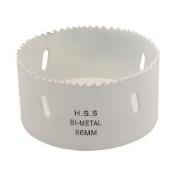Corona perforadora bimetal 86 mm.