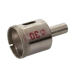 Corona perforadora diamantada de 30 mm.