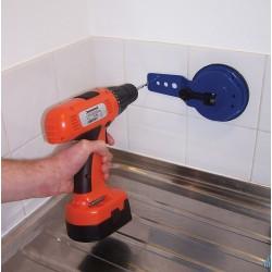Guía con ventosa para perforar azulejos 10 mm.