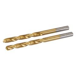 2 Brocas 6 mm. HSS con revestimiento de titanio