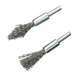 Brochas de alambre de acero, 2 pzas. Vástago de 6 mm