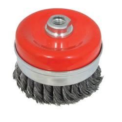 Cepillo de vaso 100 mm. de acero trenzado