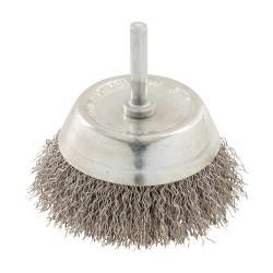 Cepillo circular de acero inoxidable 75 mm.