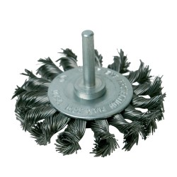 Cepillo circular de acero trenzado 75 mm.