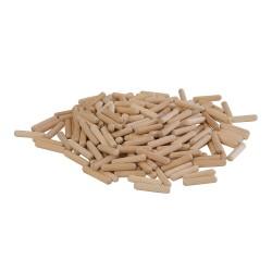 Espigas de madera, 200 pzas. 6 x 30 mm