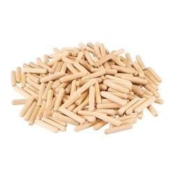 Espigas de madera, 200 pzas. 8 x 40 mm