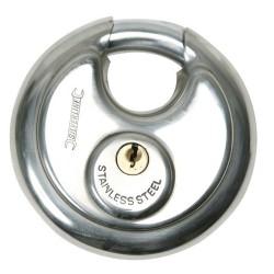 Candado circular de acero inoxidable 70 mm.