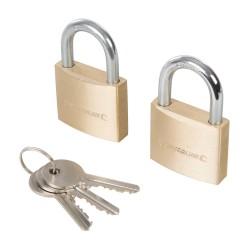 Candados con cierre de una sola llave, 2 pzas