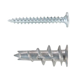 Tacos autoperforadores,  12 x 32 mm. 100 pzas